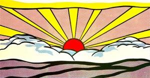 Roy Lichtenstein - Centre Pompidou - Lever du soleil