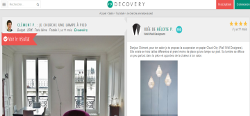 Exemple de question sur le site décovery
